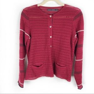 Gudrun Sjoden Cranberry Cardigan Button Front